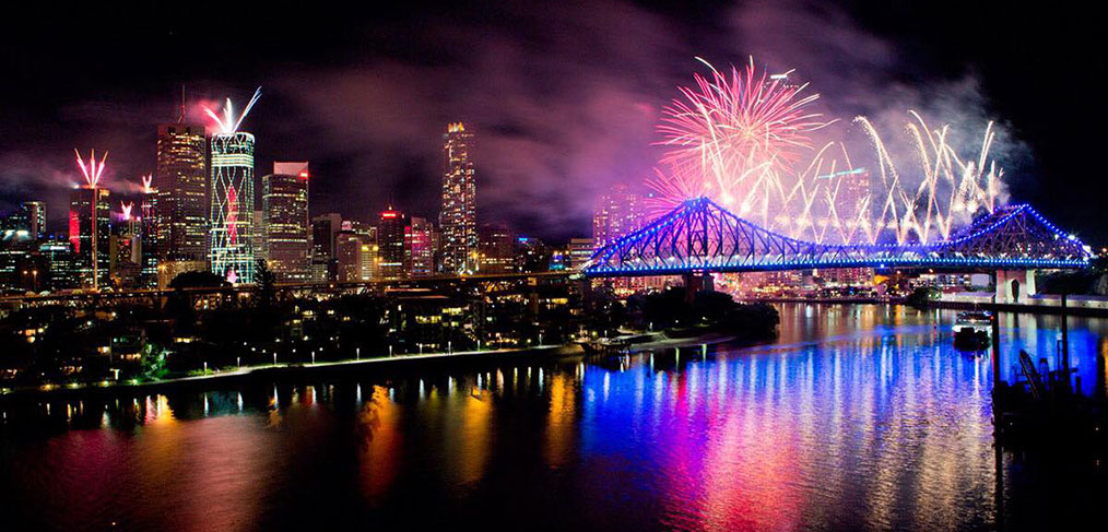 Best View of New Year's Eve Fireworks Brisbane
